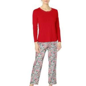 Nautica Red Holly Berry Holiday Pajamas NWT